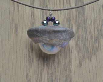Hawaiian Shell and Pearl Pendant