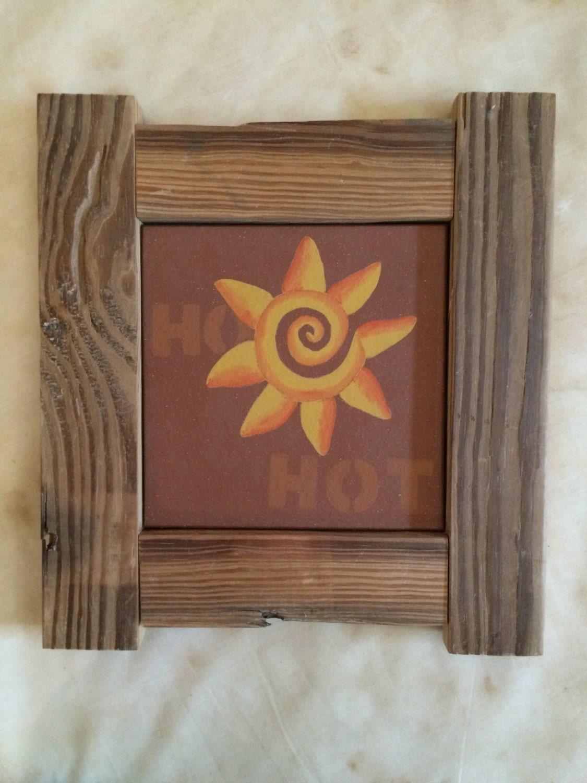Espiral caliente el sol arte estilo suroeste pintados a mano