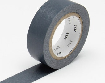 Dark Grey Washi Tape • MT Masking Tape Washi Tape • Washi Tape UK • Japanese stationery • Aonibi