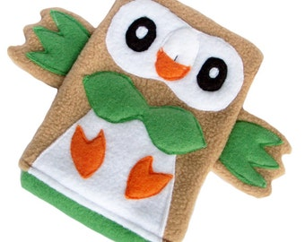 JULY PREORDER 3ds XL Case / Custom Size Pokemon Rowlet pouch carrying case new 3ds / 3ds xl / nintendo switch / psp vita holder cozy