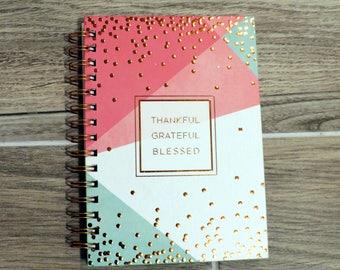 Geo Dot Pink/Mint Spiral Journal