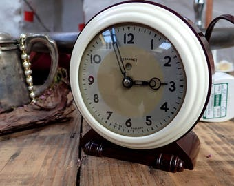 Vintage Clock, Art Deco Clock, Ferranti Clock, Electric Clock, Antique Clock, Alarm Clock, Vintage Alarm Clock, Brown Clock, New Home Gift