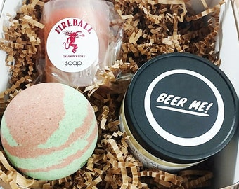 Beer Bath Gift Set. Father's Day Gift. Personalized Dad. Gift for Him. Groomsmen. Funny Gift for Him. Man Gift Idea. Under 50 Gift Idea. Dad