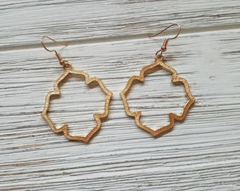 Chandelier Earring / Gold  Earrings  / Geometric Jewelry / gift for her / SALE / Trendy Jewelry / Wedding / Bridesmaid Gift / Statement