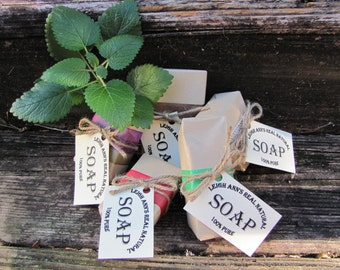 Mix and Match 5 Bars <Handmade-ColdProcess-Natural-Holistic-Herbal-Sensitive&TroubledSkin-Gift>