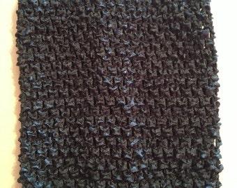 "CLEARANCE SALE- Antique Blue 6"" Crochet Tube Top for Tutu Dresses"