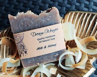 Milk & Honey Soap- All Natural Luxury Soap, Handmade Soap, Homemade Soap, Handcrafted Soap