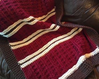 Mountain Cabin Baby Blanket  --  a loom knit pattern