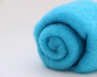 Needle felting wool, 1 oz, water - blue.  Maori wool blend of coopworth and corriedale.