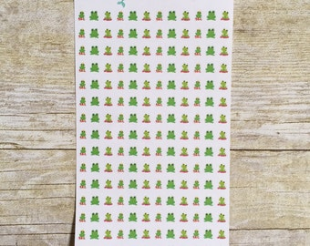 Cute Frogs Mini Planner Stickers M29