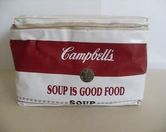 Vintage Campbells Soup Cooler,Lunch Bag