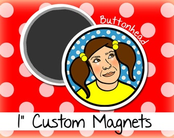 100 Magnets Custom Round with Your Logo Design - 1 Inch