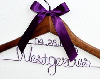 Wedding hanger,bride hanger,Mrs hanger, Bridal Shower Gift, Personalized Bride Hanger, Personalized Custom Wedding Hanger, dress hanger,