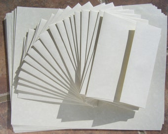 Blank paper and envelopes matching stationery set, 40 pieces parchment for letters, note cards, graduation announcements and invitations