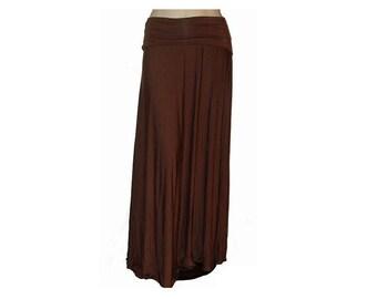 Plus Size Maxi Skirt-Long Skirt-Hand Dyed Soft Organic Cotton/Bamboo Jersey-Goddess Skirt-Made to Order Size & Color-XL,2X,3X,4X,5X,6X,7X,8X