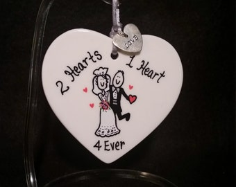 wedding gift,  wedding gift. just married, couples gift, bride and groom, custom personalized gift,wedding ornament,wedding favor