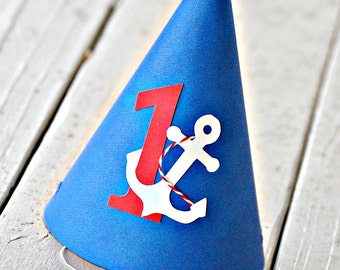 The NAUTICAL Fare - Custom Party Hats SET of SIX from Mary Had a Little Party