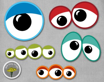 Monster Eyes Photo Props, Printable, Instant Download - PERSONAL USE ONLY