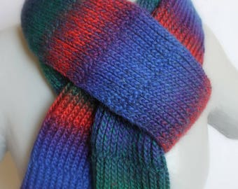 your blue, green, red multicolor unisex scarf