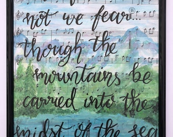 Hand Lettered and Hand Painted Scripture  Art Print 8x10