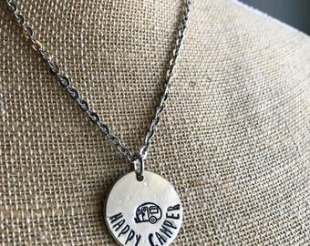 Personalized Circle Necklace - Personalized Necklace - Circle Necklace -Hand Stamped Necklace-Personalized  Gift- Statement Necklace