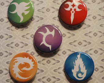 "Inheritance Cycle Symbols Button Set - Yawë, Zar'roc, Brisingr, Elva, ""E"" dragon!"