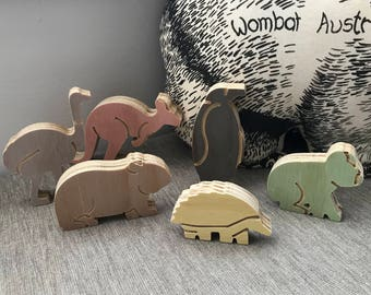 Baby Aussie Animal Natural Ply Toys - Australian Native Set for Kids