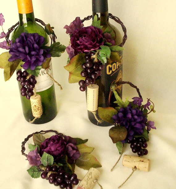 Wine Themed Home Decor: Wine Theme Wedding Centerpieces Wine Bottle Topper By