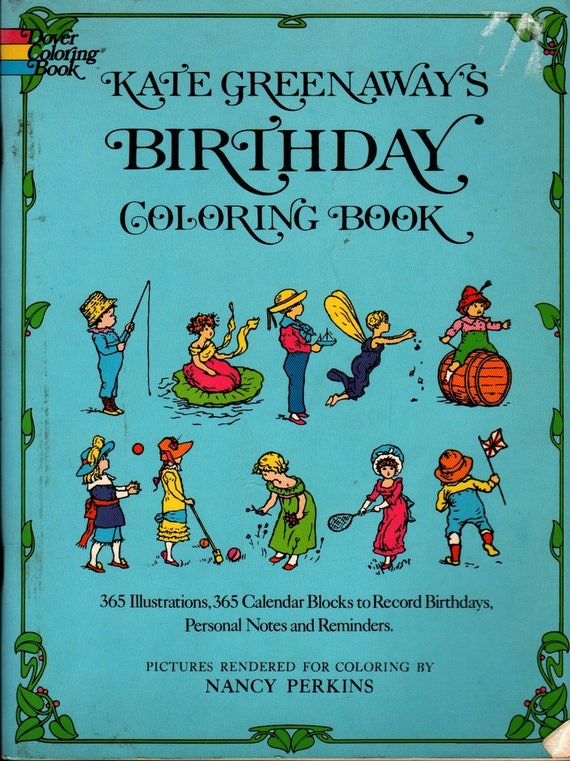 Kate Greenaway\'s Birthday Coloring Book Mrs. Sale Barker