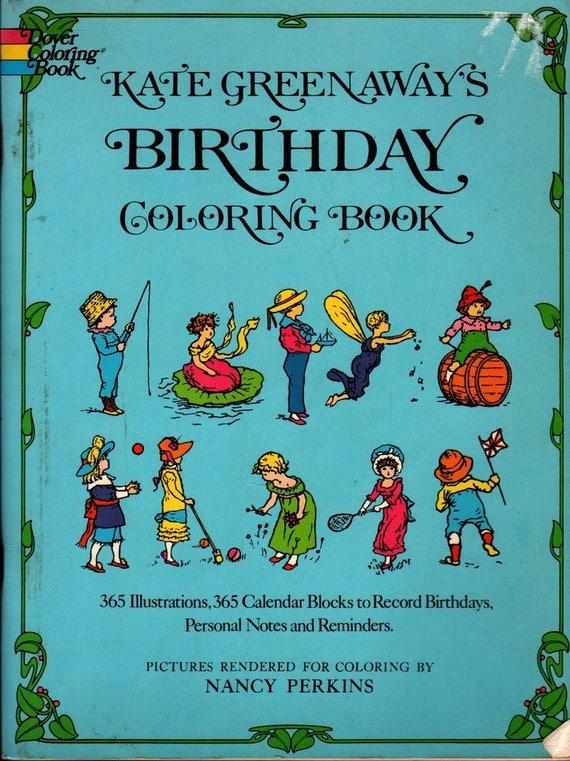 Kate Greenaway\'s Birthday Coloring Book Mrs. Sale Barker