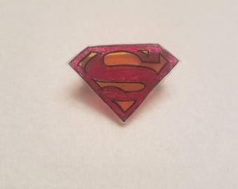 Superman inspired pin