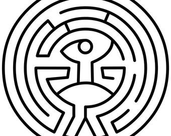 PDF Pattern - Westworld Maze