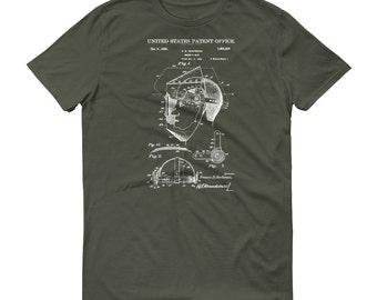 Welder's Mask Patent T-Shirt - Patent Shirt, Vintage Tools, Old Patent T-shirt, Welder's Mask T-Shirt, Steampunk T-Shirt, Welder T-Shirt
