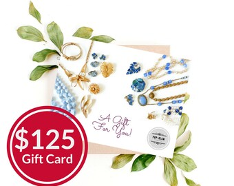 Pop and Glam Vintage Gift Card for 125 Dollars | Gift Certificate | Gift Idea | Valentine Gift | Bridal Gift | Bridesmaid Gift Idea