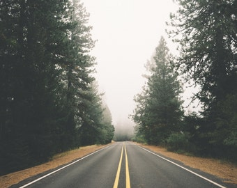 Road Digital Photo - Road Photo - Road Trip - Forest Road - Misty Road - Digital Photo - Digital Download - Instant Download - Wall Art