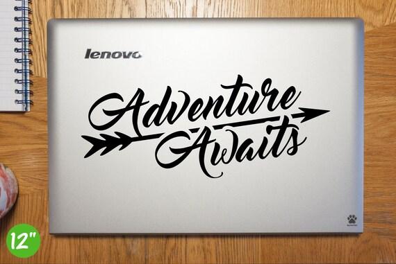 Adventure Awaits Laptop Sticker Laptop Decal Adventure Awaits Arrow Car Decal Adventure Awaits Arrow Vinyl Art Sticker