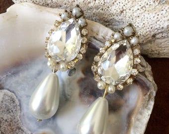 Drop Pearl Earrings, Elegant Jewelry, Bridal Jewelry, Wedding Accessories, Classic Earrings, pearl earrings