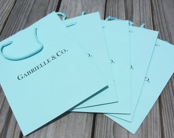 Personalized gift bags by packitwrapit on etsy personalized ink printed gift bags 8x4x10 customized turquoise favor negle Image collections