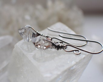 Herkimer Diamond Earrings, April Birthstone Earrings, Gemstone Earrings, Gemstone Jewelry, Birthstone Jewelry