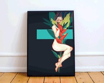 Printout digital painting