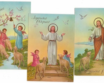 3 cards postcards vintage but new / Easter/Easter / postcard/Jesus