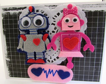 Robot Love Valentine's Day Card Eco Friendly