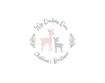 Premade Logo Small Business Branding Photography Logo Deer Logo Boutique Logo