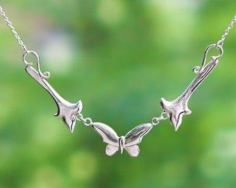 Butterfly Necklace - Sterling Silver - Item:CBN