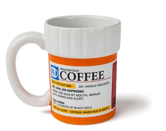 Original Prescription coffee/tea Mug Cup funny gifts,gifts for her, gifts for him,Christmas gift,unique gifts