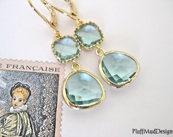Prasiolite Earrings Mother's Day Free Shipping - Spring Green II