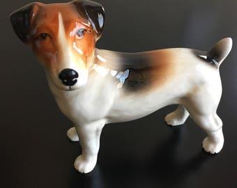 Porcelain Jack Russell Terrirer Dog by Melba Ware England, Jack Russell Dog, Terrier Dog