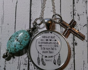 When My Heart is Overwhelmed Lead Me Necklace