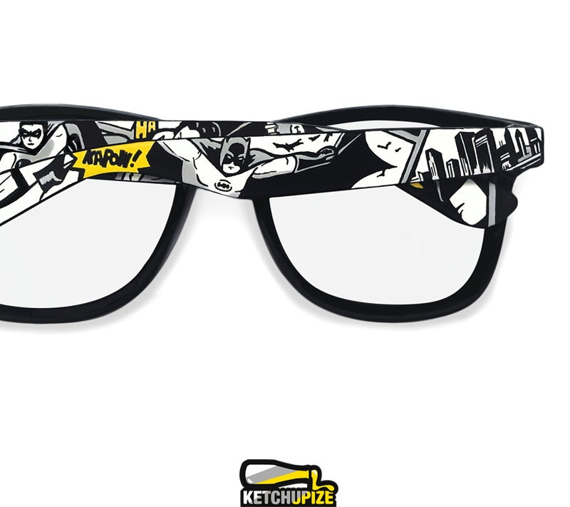 Batman inspired Prescription frames gift for him clear lens