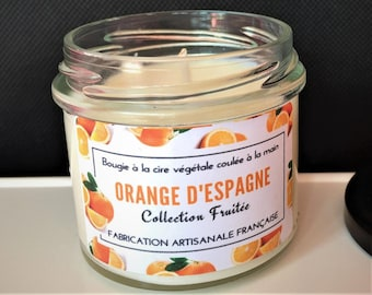 Scented candle in Spain - natural vegetable wax - fruity Collection - Orange French homemade
